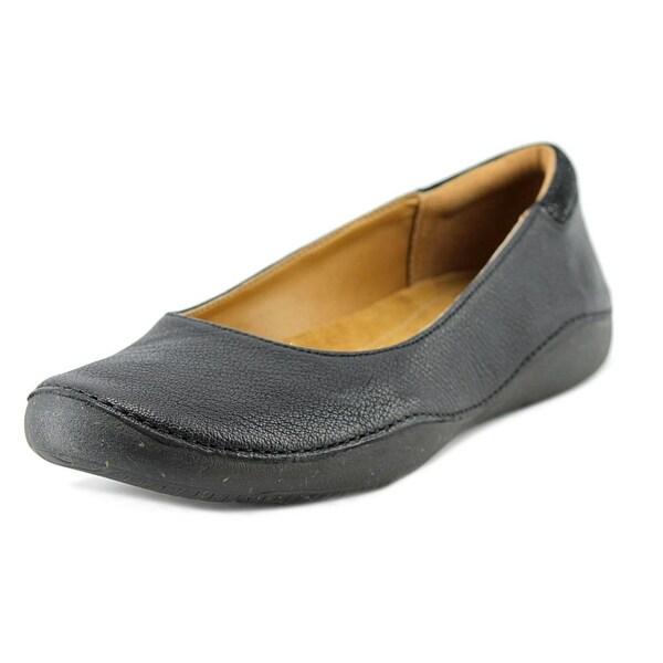 1ea8f6aa73f Shop Clarks Artisan Autumn Sun Women Round Toe Leather Black Flats ...