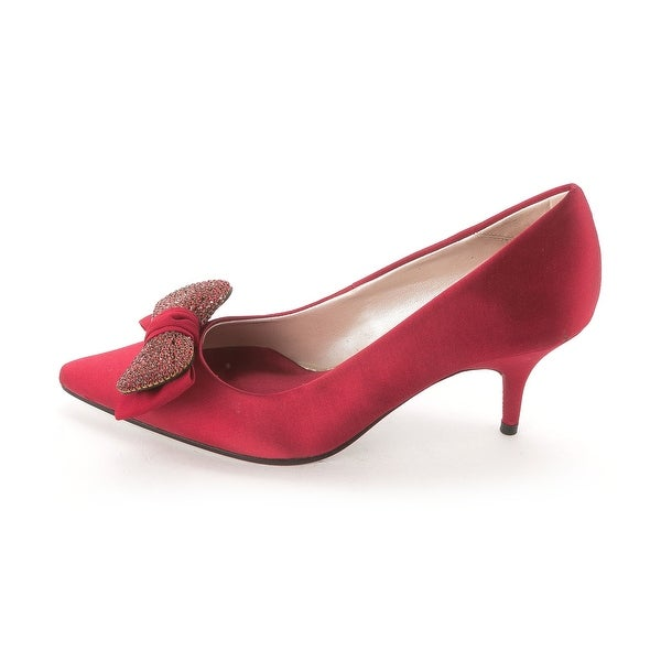 E! Live From The Red Carpet Women's Hilary Pointed Toe Bow Pumps - 6