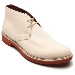 Alexander Men's Canvas Western High Tops Natural Oxfords Shoes