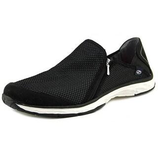 Dr. Scholl's Anna Zip Women Round Toe Synthetic Black Walking Shoe
