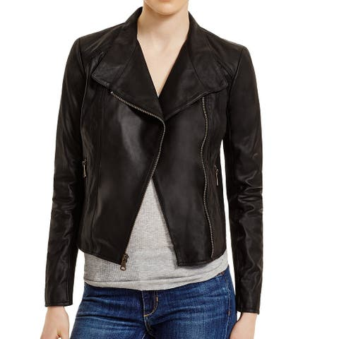 Marc York Women's Jacket Black Size Small S Motorcycle Leather