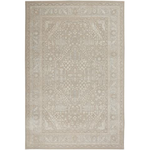 Kathy Ireland Malta Bordered Center Medallion Area Rug