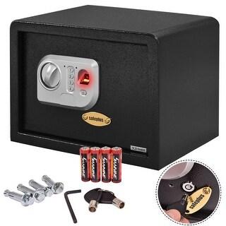 "Costway 14"" Biometric Fingerprint Electronic Digital Wall Safe Box Keypad Lock Security"