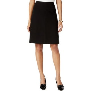 Tommy Hilfiger Womens A-Line Skirt Solid Knee Length