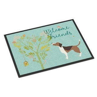 Carolines Treasures BB7601MAT Welcome Friends Beagle Indoor or Outdoor Mat 18 x 27 in.