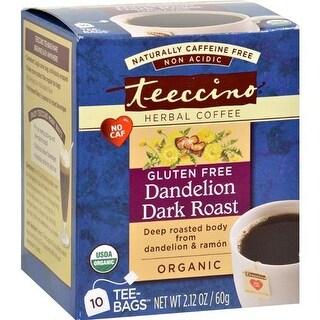 Teeccino - Teeccino Coffee Tee Bags - Organic - Dandelion Dark Roast Herbal ( 2 - 10 BAG)