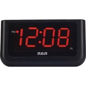 GE/RCA RCARCD30b RCA RCD30 High Quality Alarm Clock with 1.4-Inch red LED display