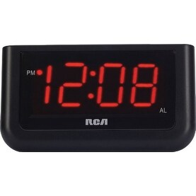 """GE/RCA RCARCD30b RCA RCD30 High Quality Alarm Clock with 1.4-Inch red LED display"""