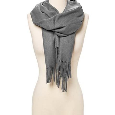 Women Pashmina Cashmere Solid Scarf Shawl Wrap Womens Scarves - Large - L