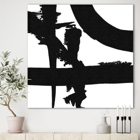 Porch & Den Black and White Crossing Paths I' Gallery-wrapped Canvas