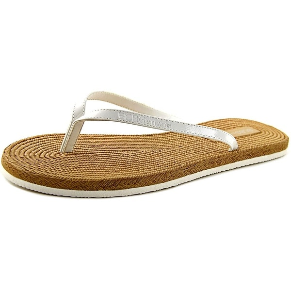 BCBGeneration Yolo Women  Open Toe Synthetic White Thong Sandal