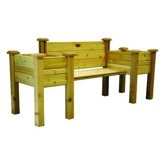 Gronomics EPB 24-82 Unfinished Cedar Planter Bench 24 x 82 x 36 in.