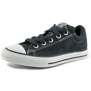 Converse Chuck Taylor Street Ox Youth Round Toe Canvas Sneakers