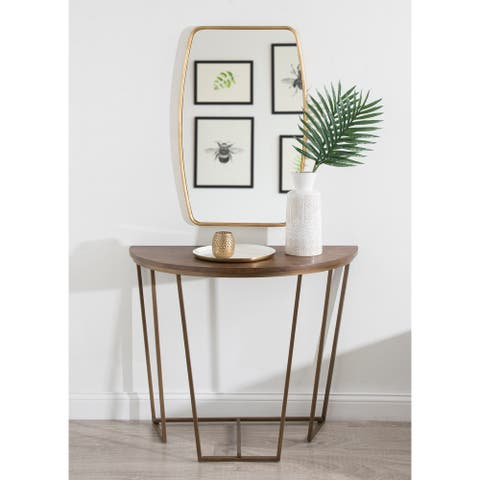Kate and Laurel Solvay Wood and Metal Console Table - 36x18x29.75