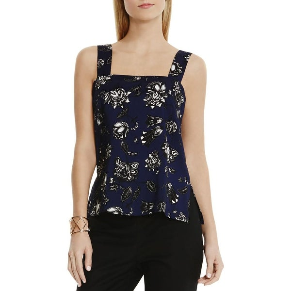 Vince Camuto Womens Tank Top Floral Print Sleeveless