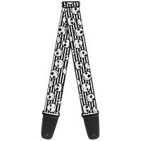 Nightmare Before Christmas Jack Expressions Stripe White Black Guitar Strap