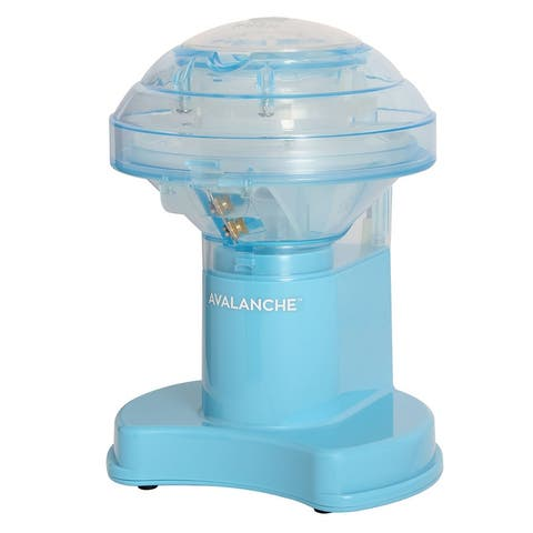 VKP Brands Time for Treats Avalanche Electric Ice Shaver with Clear Plastic Top, Stainless Steel Blade, Wide Base & Rubber Feet