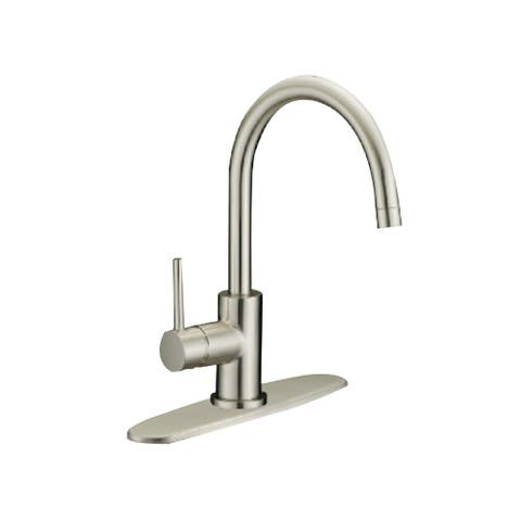 Single Handle Kitchen Faucet , Brushed Nickel Finish - 14.5H x 10W x 9.3 in.