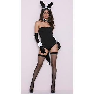 Scandalous Mrs. Tux Bunny Costume - Black