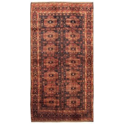 ECARPETGALLERY Hand-knotted Teimani Black Wool Rug - 6'2 x 12'4