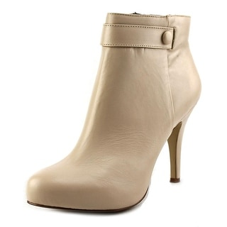 Nine West Go With It Women Round Toe Leather Tan Ankle Boot