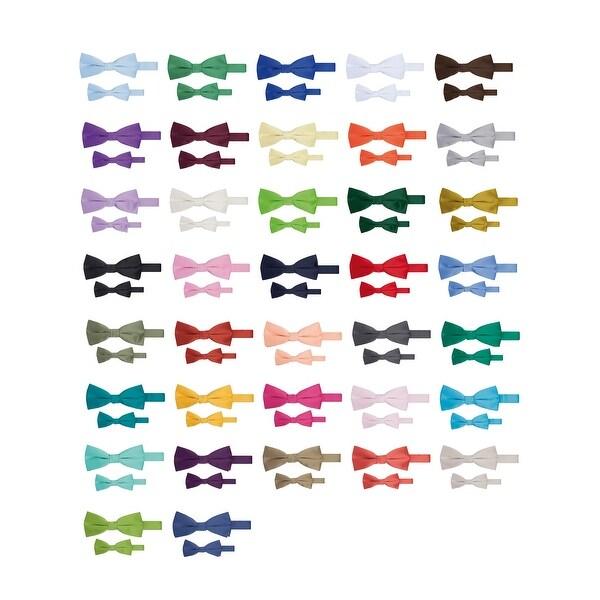878f84289f96 Shop Jacob Alexander Matching Father Son Men's Boy's Bow Tie Set ...