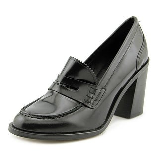 Steve Madden Yoyo Women Round Toe Patent Leather Black Heels