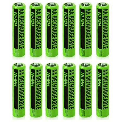 Replacement VTech i5867 NiMH AA Cordless Phone Battery - 1400mAh / 1.2V (12 Pack)