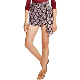 Free People Womens Casual Shorts Printed Wrap