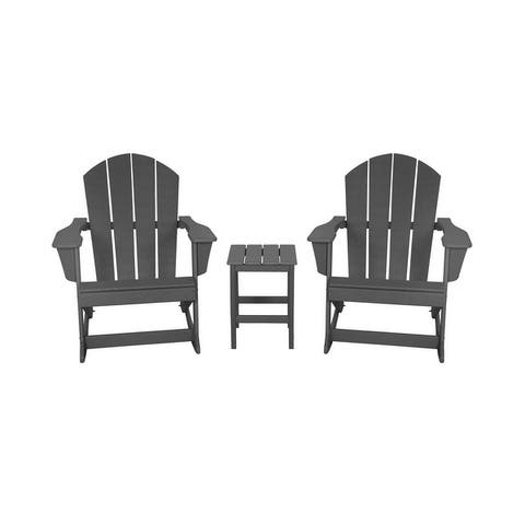 Laguna Adirondack Rocking Chairs and SideTable Set