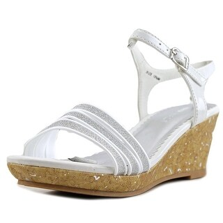 Nine West Emily Open Toe Synthetic Wedge Sandal