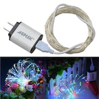USB Operated LED String Lights Waterproof Ultra Thin Copper Wire Starry Light (with 5V 2A USB charger) RGB color