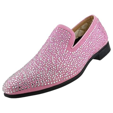 Bolano Snyder - Men's Designer Dress Shoes, Slip-On with Rhinestones
