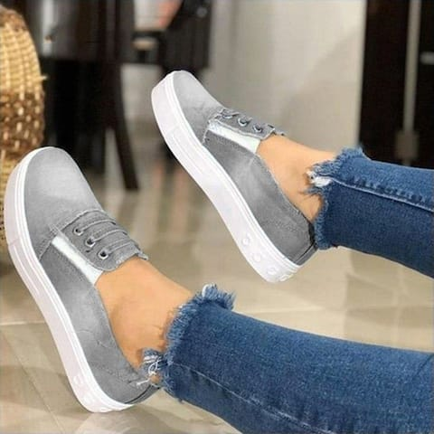 Large Size Women's Flat Canvas Shoes