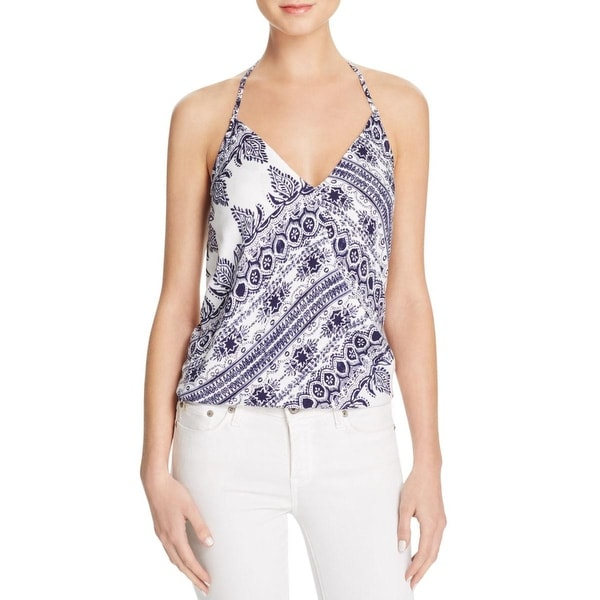 Olivaceous Womens Halter Top Printed Wrap