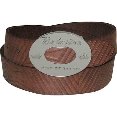 Buxton Men's Budweiser Bowtie Belt Brown
