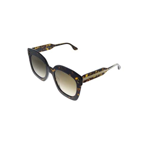 Bottega Veneta BV 0238S 002 Womens Havana Frame Brown Gradient Lens Sunglasses