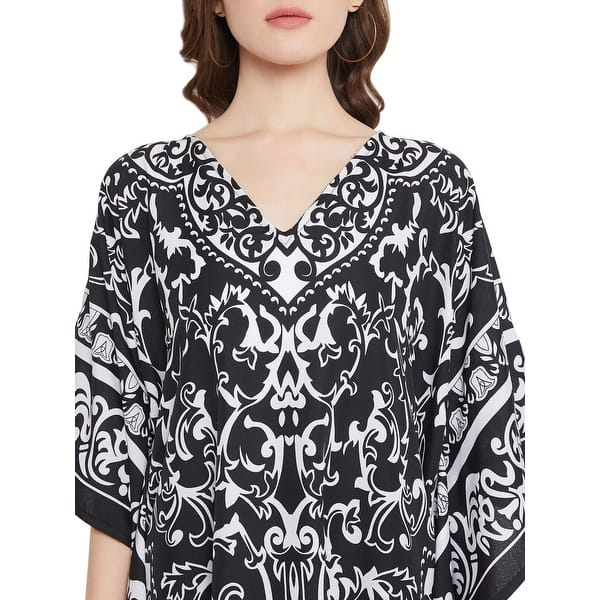 Womens Lace Floral V Neck Half Sleeve Tops T-shirt Ladies Casual Tunic Blouse