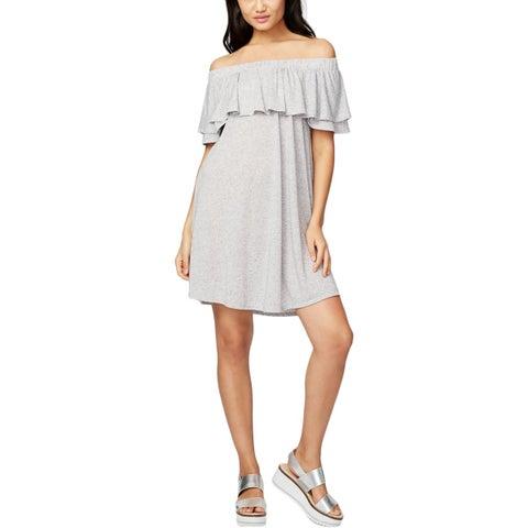 Rachel Rachel Roy Womens Casual Dress Knit Off-The-Shoulder