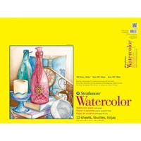 "Strathmore Watercolor Paper Pad 18""X24""-140Lb Cold Press 12 Sheets"