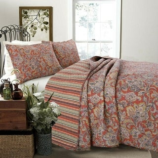 Link to Copper Grove Chiddingfold Spice Paisley 3-piece Quilt Set Similar Items in Quilts & Coverlets