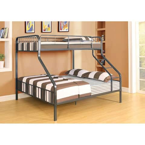 Caius Bunk Bed (Twin XL/Queen) in Gunmetal
