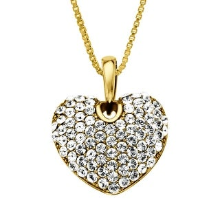 Crystaluxe Heart Pendant with Swarovski Crystals in 18K Gold-Plated Sterling Silver