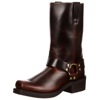 """Durango Motorcycle Boots Mens 11"""" Harness Leather Rubbed Brown DB514"""