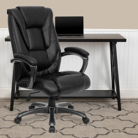 High Back LeatherSoft Layered Upholstered Executive Ergonomic Office Chair