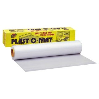 "Warp's PM-50 Plast-O-Mat Ribbed Shelf Liner & Floor Runner, 30"" x 50', Clear"