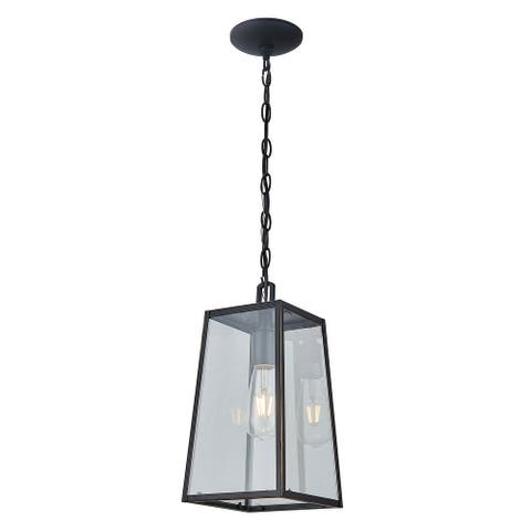 1 Light Outdoor Hanging Lantern in Imperial Black Finish - Imperial Black