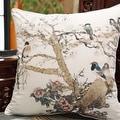 """Luxury White Bird Printing Pillow 20""""X20"""" - Thumbnail 0"""