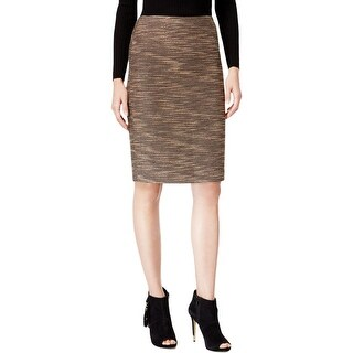 Catherine Malandrino Womens Stacia Pencil Skirt Tweed Textured