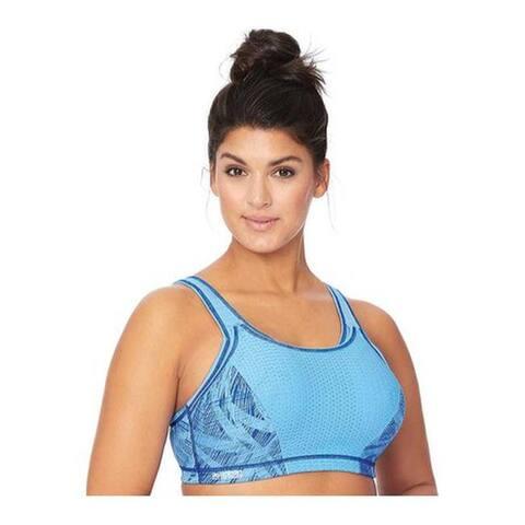 b81a84fdace Glamorise Women s Adjustable Sport Bra Blue